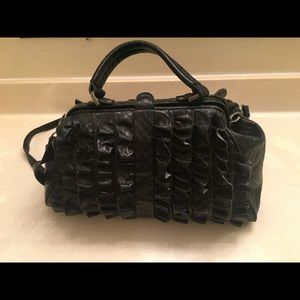 Jessica Simpson large leather satchel bag